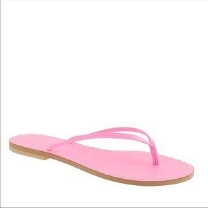 Lightly worn hot pink J. Crew flip flops